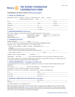 TRF Contribution Form